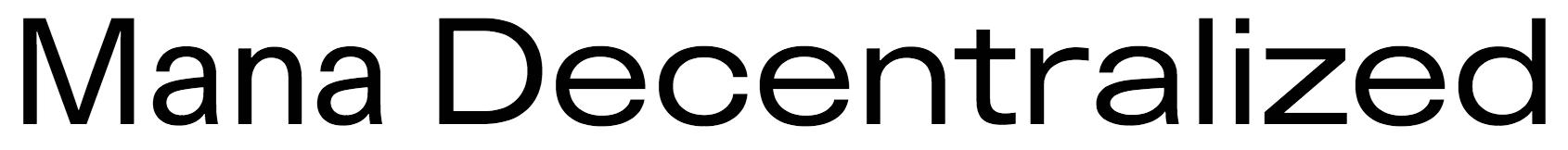 Mana Decentralized Logo